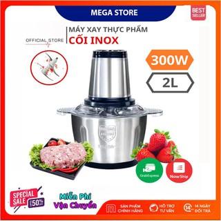 Máy xay thịt công suất lớn Inox 304- Hàng chính hãng BH 12 tháng - máy xay thịt đa năng inox 4 lưỡi - maysaythit thumbnail