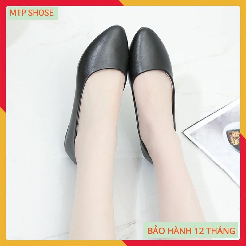 Gìay cao gót nữ 3cm dành cho phái đẹp - giày công sở 3cm 5