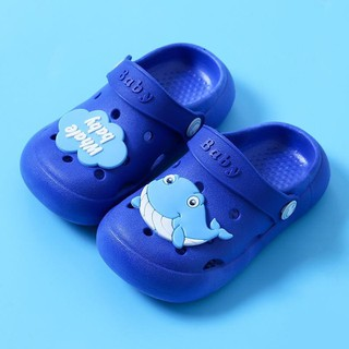 Dép sục trẻ em sticker chú cá voi whale baby màu xanh ngọc - chickXanhNgoc thumbnail