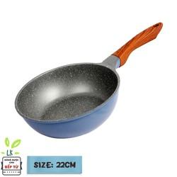 Seoulcook (E) Chảo đúc sâu lòng 22 xanh (dùng được tất cả các bếp, kể cả bếp từ)