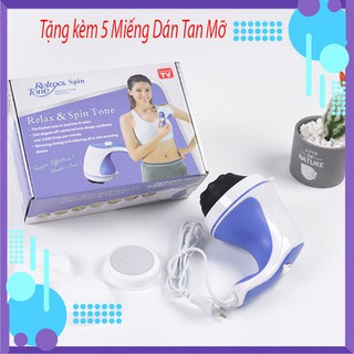 Máy Massage Cầm Tay Mini Máy Mát Xa Giảm Mỡ +Tặng kèm 5 miếng Dán tan mỡ - MMS5D-1 thumbnail