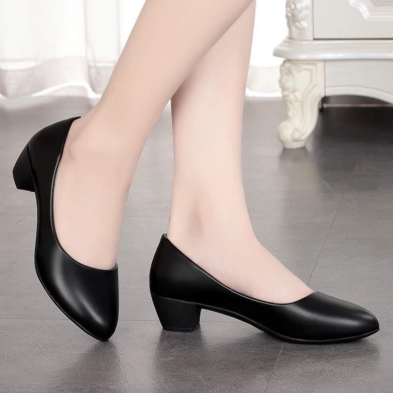 Gìay cao gót nữ 3cm dành cho phái đẹp - giày công sở 3cm 4
