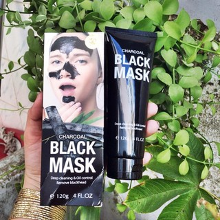 Mặt Nạ Lột Mụn Than Tre Black Mask Charcoal 120g HUKB470 - 3392sola thumbnail