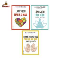 Combo Sách Chăm Sóc Sức Khỏe: Làm sạch tâm hồn - Các bài tập thiền + Làm Sạch Mạch Máu + Những Phương Thức Phục Hồi Sức Khỏe Theo Tự Nhiên