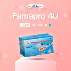 [RẺ VÔ ĐỊCH] Khẩu trang y tế 4 lớp kháng khuẩn Famapro 4U (50 cái / Hộp)
