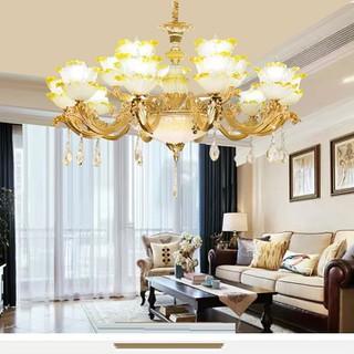 đèn chùm trang trí phòng khách đẹp -15 cánh ( cho xem hàng ) - đèn chùm trang trí j8 15 thumbnail
