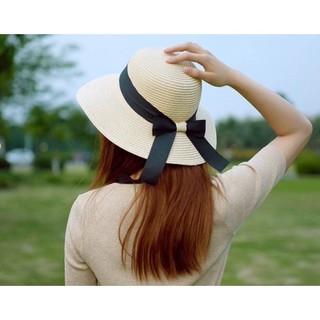 Mũ nón cói vành nơ đi biển mềm mại dễ dàng gấp gọn kiểu dáng trẻ trung - noncoi thumbnail