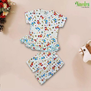 Đồ bộ bé gái vải xuất dư size cho bé 10-20kg - Ninedra - BT1155-1 thumbnail