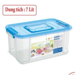 [HỘP LỚN - 7 LÍT] Hộp nhựa có quai đa năng 7 Lít đựng thực phẩm, rau củ an toàn