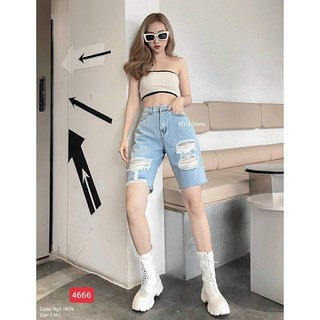 Quần jean lửng, quần jean ngố co giãn - TCS4666 thumbnail