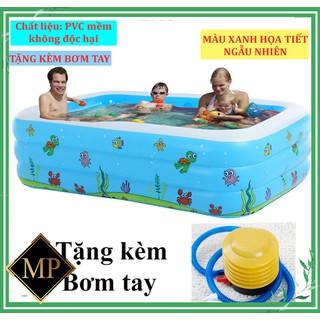 [SIÊU HOT-HÀNG LOẠI 1 SIÊU DÀY GIÁ SẬP SÀN - BỂ 2M1 - TẶNG KÈM BƠM TAY] Bể bơi phao 3 tầng hình chữ nhật cao cấp cho bé và gia đình vui chơi gắn kết yêu thương - bể bơi2M1KEMBTAY thumbnail