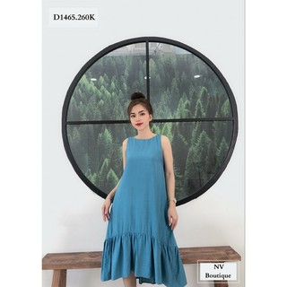 Đầm suông vải đũi 39-70kg size S, M, L, XL, 2XL - dam suong vai dui tron thumbnail
