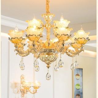 đèn chùm trang trí phòng khách cổ điển - đèn trần trang trí 15 tay - đèn chùm cổ điển j4 15 thumbnail