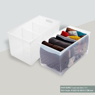 Khay đựng đồ ăn Oliving loại cao size L (Tray 1) - OSB-LP-T100-CL09b thumbnail