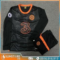 Bộ quần áo đá bóng CLB Chelsea Dài tay  - Đồ Đá Banh 2021