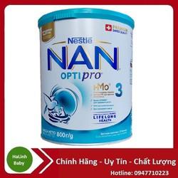 [Mẫu mới] Sữa bột Nan Nga 3 800g [Date 12/2022]