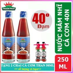 Combo 2 Nước Mắm Nhỉ Cá Cơm 40 Độ Đạm Thuận Phát Chai 250ML -(Hết quà tặng kèm)