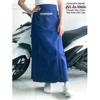 váy chống nắng loại xẻ tà chất liệu Jean trơn [ĐƯỢC KIỂM HÀNG] 43146037 - 43146037 thumbnail