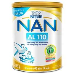 Sữa bột Nan AL110 400g  cho bé 0-3 tuổi [date luôn mới]