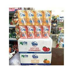 thùng 6 vỉ 4 hộp sữa trái cây mộc châu mckidz 110ml hương dâu,cam,hỗn hợp