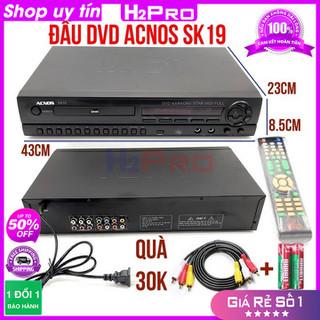 [RẺ VÔ ĐỊCH] Đầu đĩa DVD Karaoke Acnos SK19 H2PRO đầu karaoke ACNOS-USB tặng dây av và đôi pin 30K - H2WW680 thumbnail