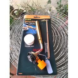 Đầu khò gas mini cầm tay hàn đồng 1 ống KT-2104 KOVEA cao cấp tặng lọ dẫn hàn và 2 que đồng tròn