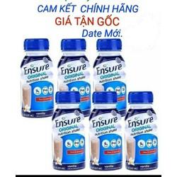 Combo 6 chai sữa nước ensure original hương vani date mới