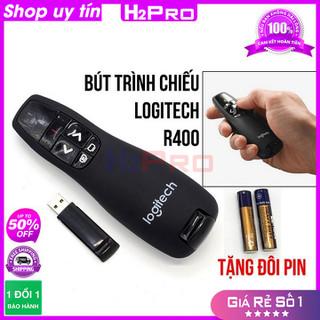 [RẺ VÔ ĐỊCH] Bút trình chiếu laser R400 H2PRO bắt sóng 15m. Bút chỉ slide cho giáo viên (tặng đôi pin 20K) - H2WW663 thumbnail