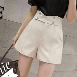 Quần short nữ công sở, quần sooc đùi nữ 4 khuy cao cấp kiểu dáng Hàn Quốc