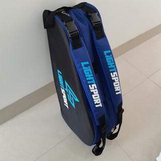 Bao vợt cầu lông LIGHTSPORT 2 ngăn chính và 2 ngăn phụ màu xanh đen - LIGHTSPORT thumbnail