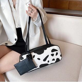 Túi tote chữ nhật dáng dài hoạ tiết bò sữa phong cách ulzzang Hàn Quốc - TX076 thumbnail