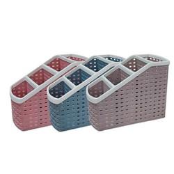 Khay nhựa tiện ích 4 ngăn, để bàn, đựng đồ dùng đa năng 5696 - hàng Việt Nam  giao màu ngẫu nhiên