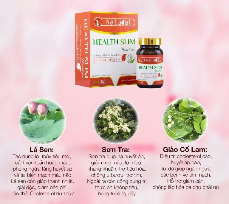 Viên Uống Giảm Cân Mashan Health Slim- Giúp Giảm Cân, Giảm Cholesterol An Toàn, Hiệu Quả - Mashan Health Slim 4