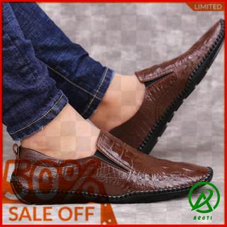 Giày Lười Nam Đẹp - GLND7 L548-NÂU thumbnail