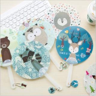 Quạt nhựa cầm tay hình thú dễ thương có móc khóa - Sku2314 thumbnail