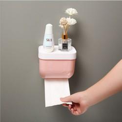 Hộp giấy vệ sinh phòng tắm dán tường tiện lợi