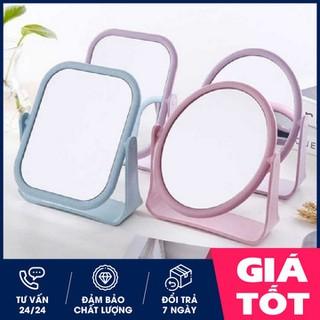 Gương để bàn - Gương để bàn mini - Gương lúa mạch 2 mặt thumbnail