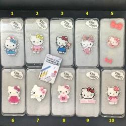 Ốp Lưng iPhone 6 Plus - 6s Plus Dẻo Trong Lưng Cứng Không Ố Vàng Hình Hello Kitty