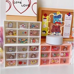 Tủ Kệ Nhựa Mini Đựng Đồ Đa Năng 9 Ngăn Mini để bàn đựng văn phòng phẩm, trang sức, vòng tay, mỹ phẩm