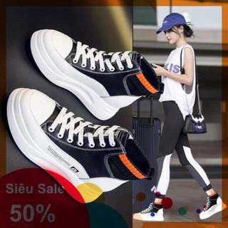 Giày thể thao nữ da độn đế cao cổ len cao cấp - A 25 thumbnail