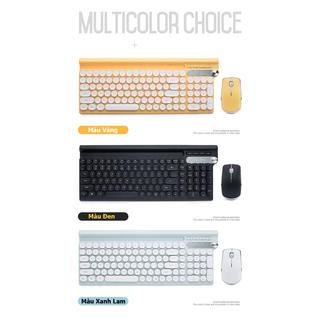 Bộ bàn phím và chuột không dây LT500 kèm nút vặn tăng giảm âm lượng phiên bản sạc pin dùng cho văn phòng - 567788 thumbnail