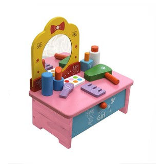 Bàn trang điểm bằng gỗ size nhỏ tiện lợi đồ chơi cho bé nhập vai - XK070NV thumbnail