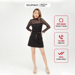 Chân váy chữ A phối dây kéo cá tính GUMAC VB597