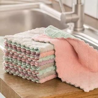 sét 10 khăn lau bếp đa năng mềm mại thấm hút tốt -khăn lau đa năng nhà bếp 2 mặt chống dính dầu mỡ nhanh khô - S10KLTNB thumbnail
