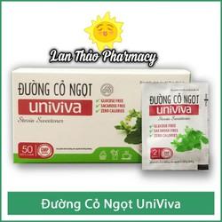 Đường cỏ ngọt Univiva hộp 50 gói dành cho người ăn kiêng, tiểu đường, béo phì