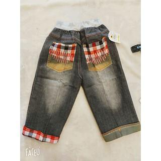 quần jean thêu cho bé chất jean mềm mại lên form cực xinh - quanjetheu thumbnail