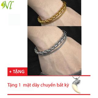Lắc tay titan cao cấp 2 lớp mạnh mẽ ( xem hàng trước khi nhận) - 2loptron thumbnail