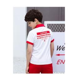 Áo phông có cổ bé trai size đại hãng AKL, áo polo trắng phong cách Hàn Quốc  cho bé 5 đến 14 tuổi nặng 25kg đến 45kg