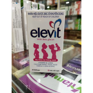 [HÀNG CHÍNH HÃNG] Viên uống bổ bà bầu ELEVIT - Bổ sung dưỡng chất và vitamin thiết yếu cho bà bầu giúp mẹ khỏe , bé thông minh - Hãy nuôi dưỡng thiên thần ngay từ trong bụng mẹ - lọ 30 viên - elevit bổ bà bầu thumbnail