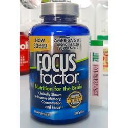 Vitamin thiết yếu cho Não bộ, hỗ trợ, duy trì và tăng cường trí nhớ Focus Factor Nutrition for the Brain America's#1 chai 180 viên từ Mỹ